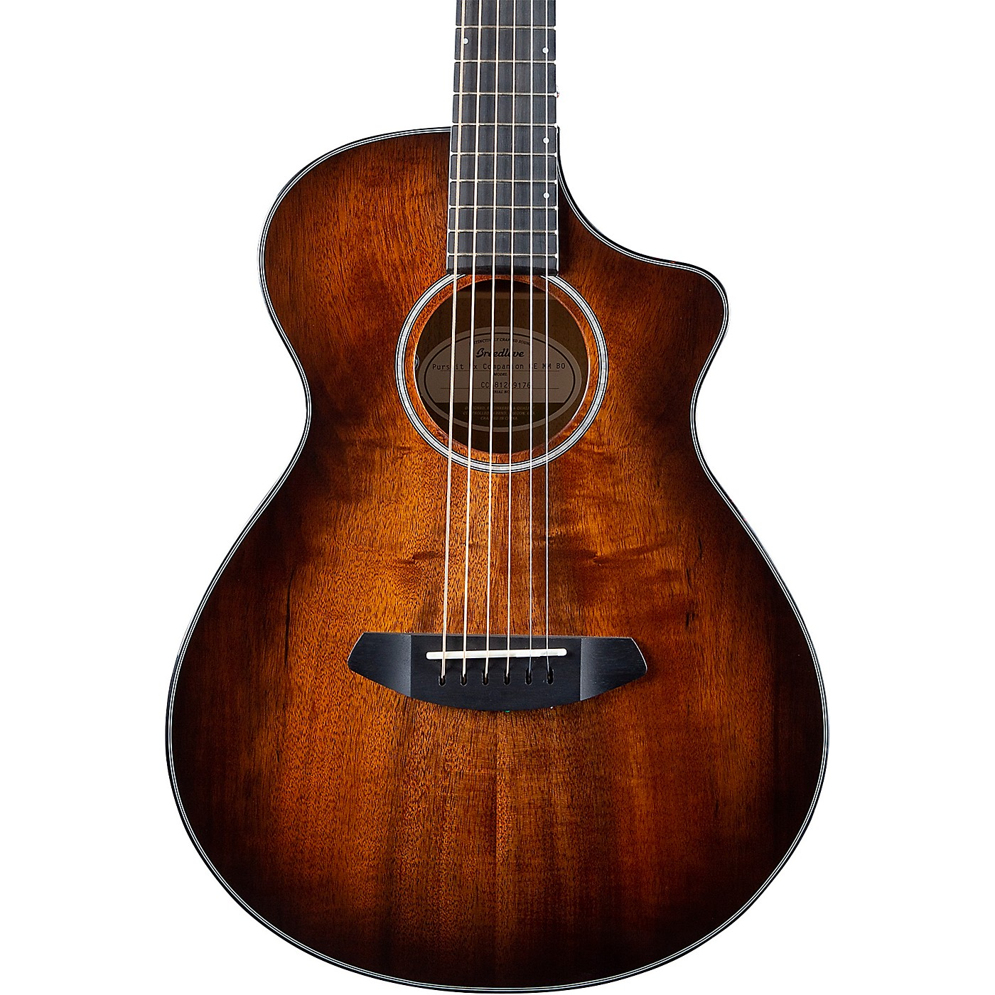 Breedlove Pursuit Exotic Companion CE Myrtlewood-Myrtlewood Travel Acoustic-Electric Guitar thumbnail