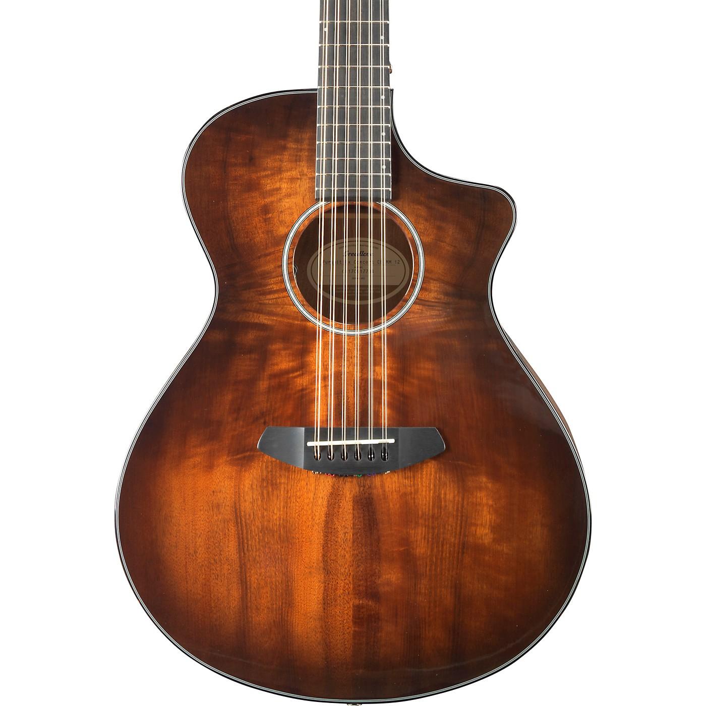 Breedlove Pursuit Exotic Concert Myrtlewood 12-String Acoustic-Electric Guitar thumbnail