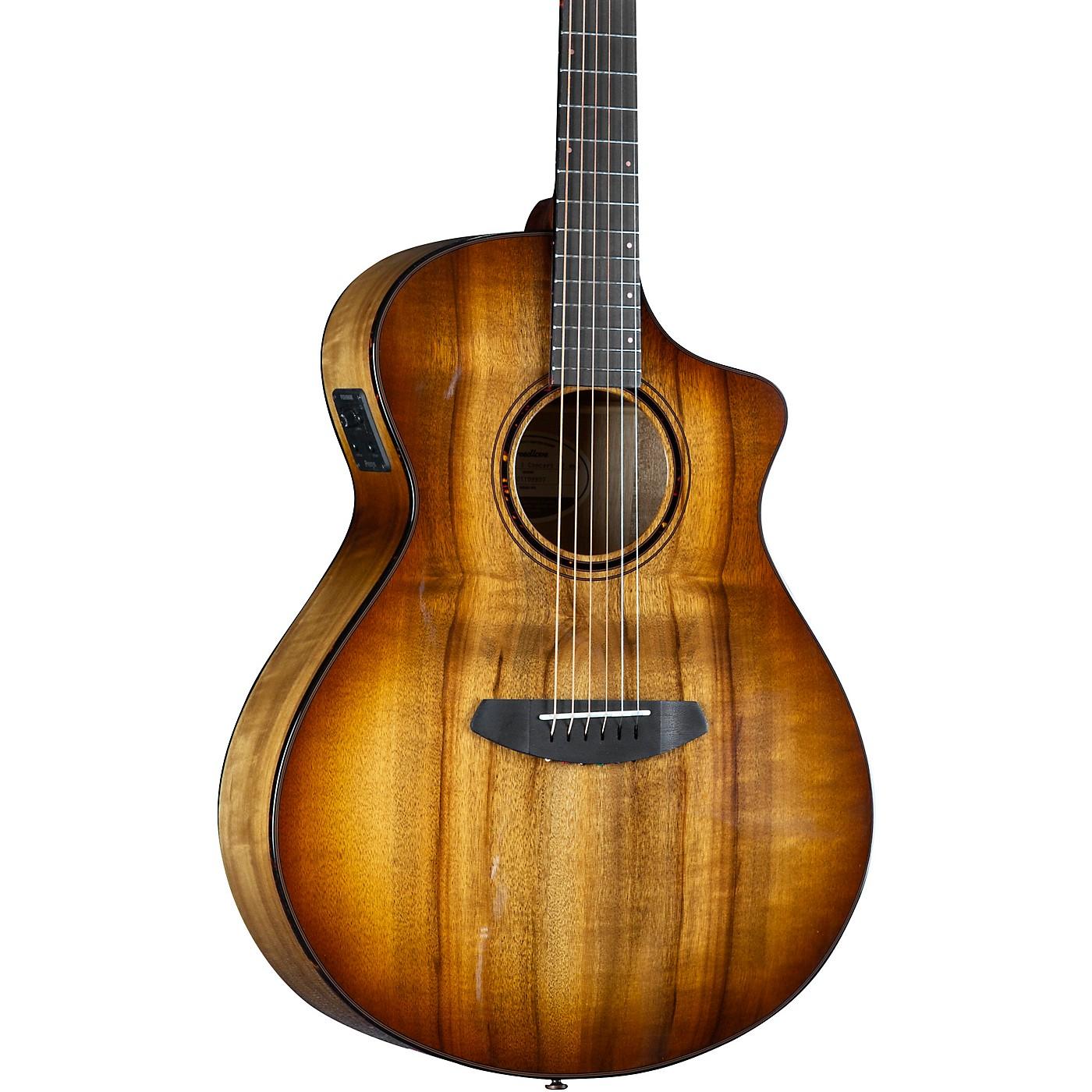 Breedlove Pursuit Exotic S CE Myrtlewood Concert Acoustic-Electric Guitar thumbnail