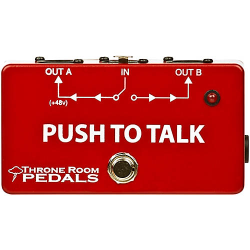 Throne Room Pedals Push To Talk Box Latching XLR A/B Switcher thumbnail