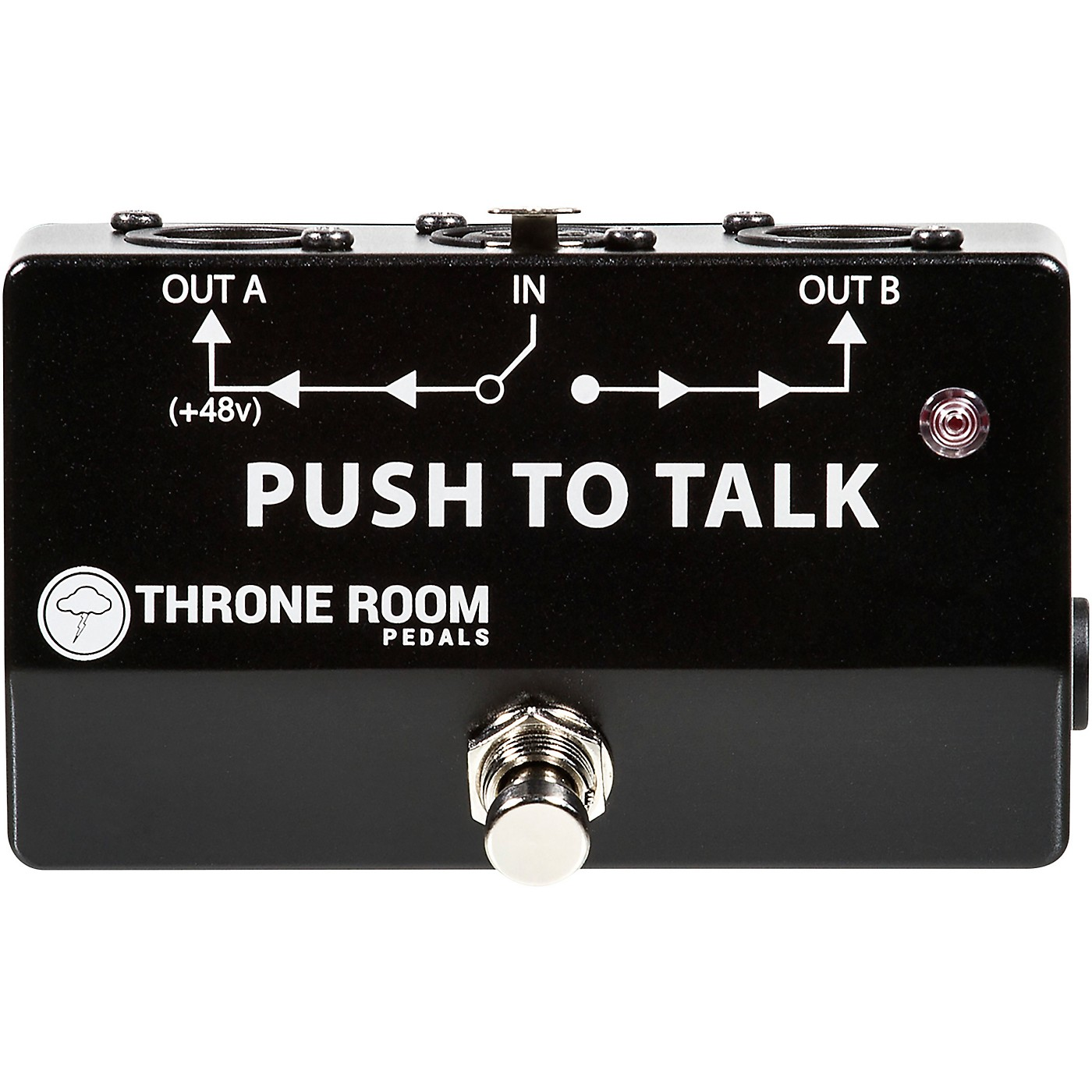 Throne Room Pedals Push To Talk Box Momentary XLR A/B Switcher thumbnail