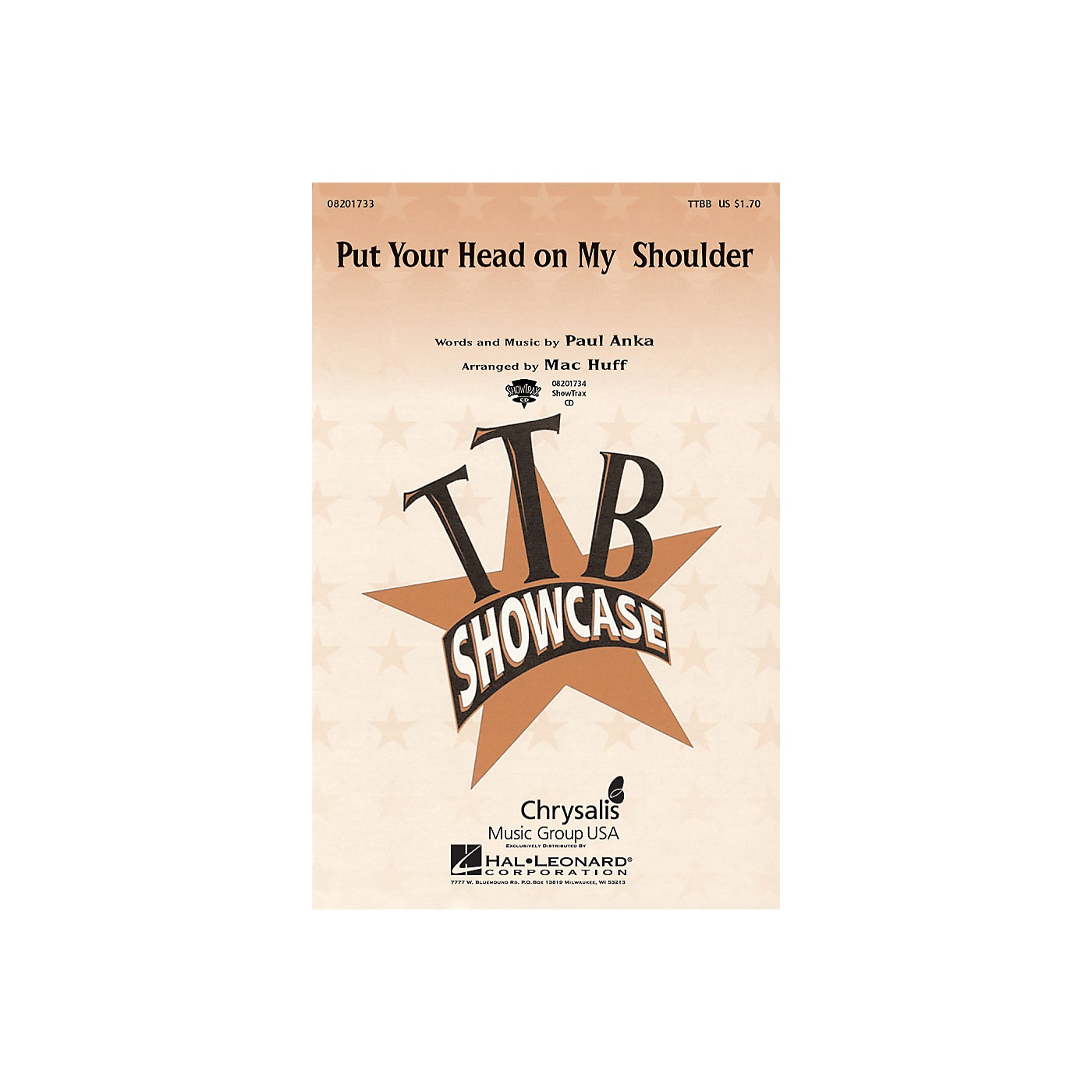 Hal Leonard Put Your Head on My Shoulder ShowTrax CD Arranged by Mac Huff thumbnail