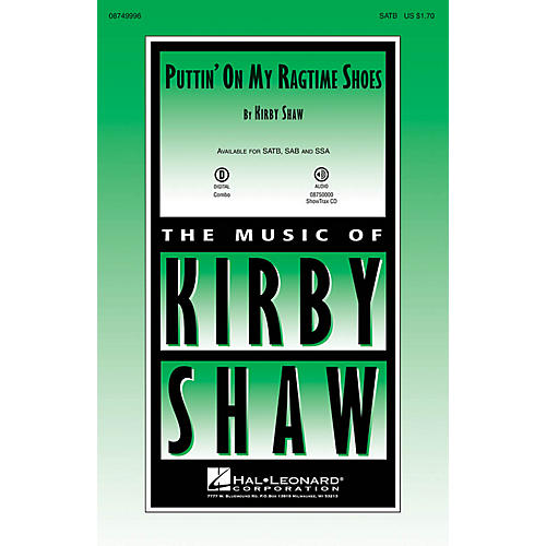 Hal Leonard Puttin' On My Ragtime Shoes SSA Composed by Kirby Shaw thumbnail