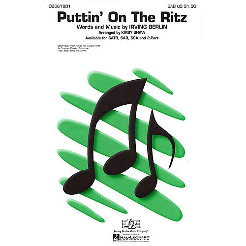 Hal Leonard Puttin' On the Ritz Combo Parts Arranged by Kirby Shaw thumbnail