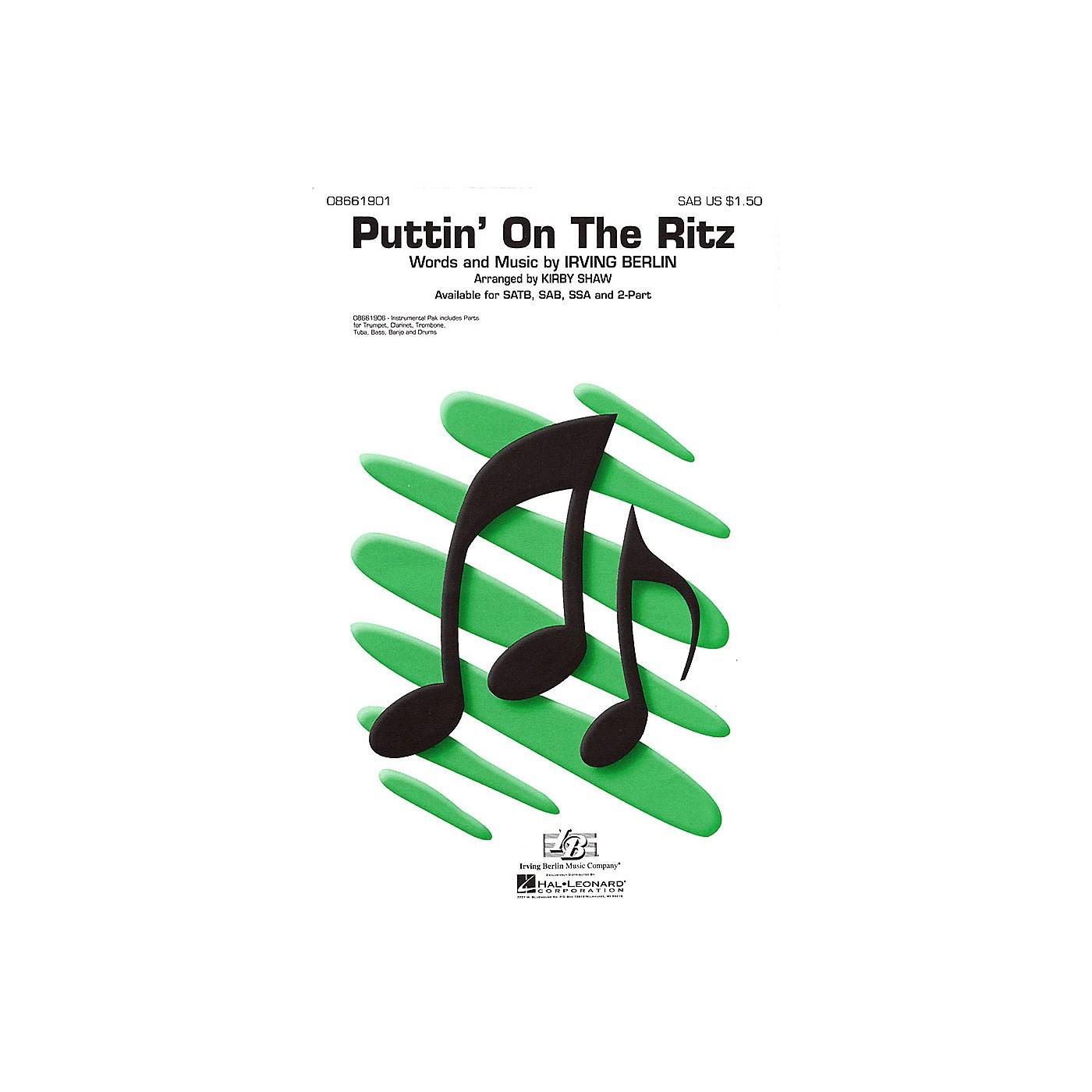 Hal Leonard Puttin' On the Ritz SAB arranged by Kirby Shaw thumbnail