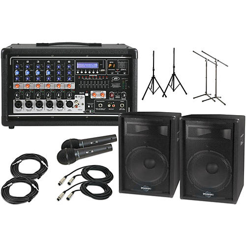 Peavey Pvi6500 With S715 15 Quot Speaker Pa Package Woodwind