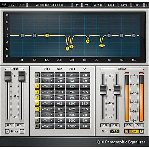 Waves Q10 Equalizer Native/TDM/SG Software Download thumbnail