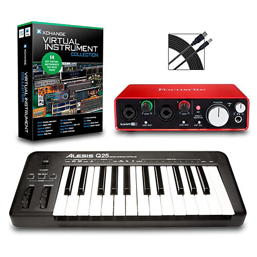 Alesis Q25 25-Key MIDI Keyboard Controller Packages thumbnail