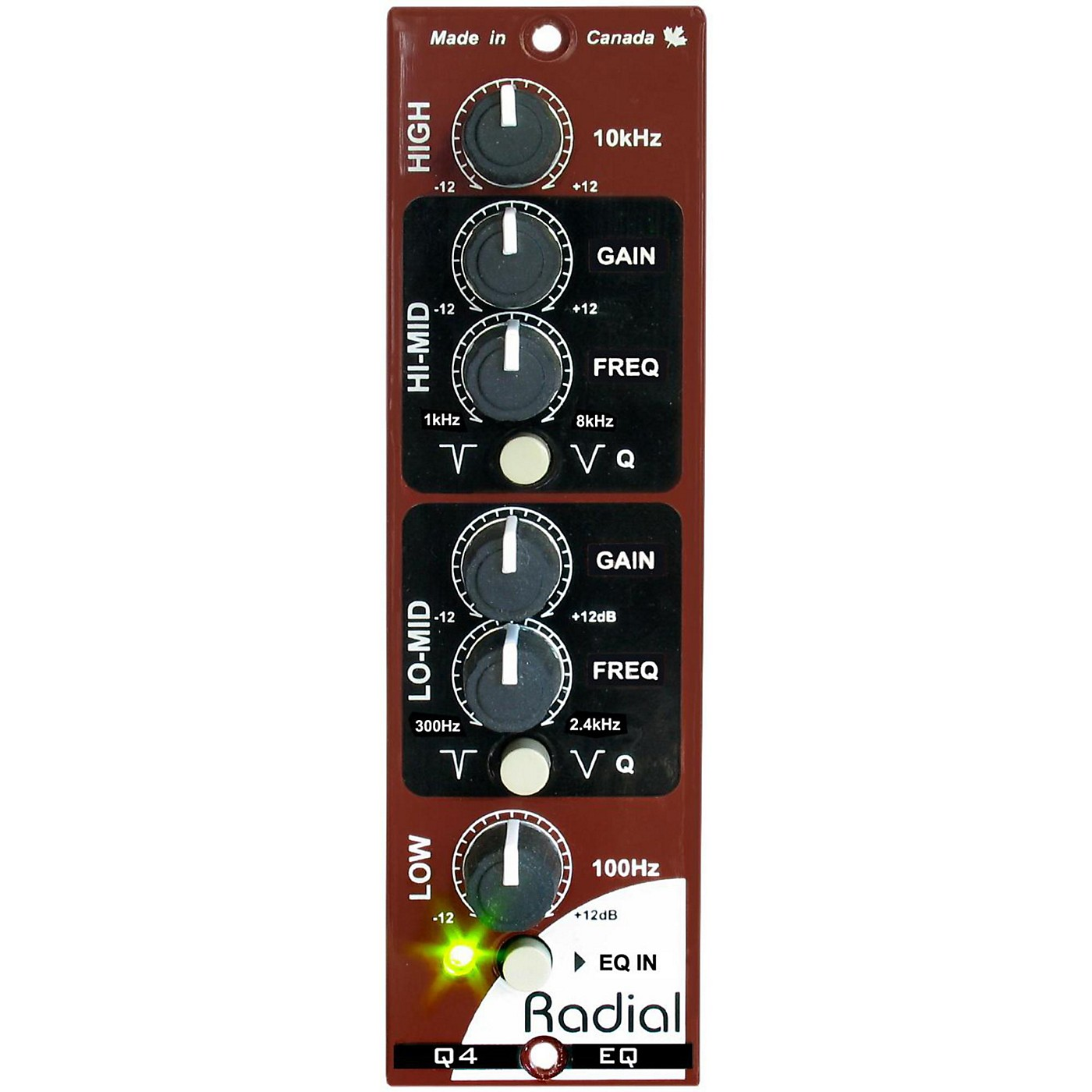 Radial Engineering Q4 Four Band Semi-Parametric EQ thumbnail