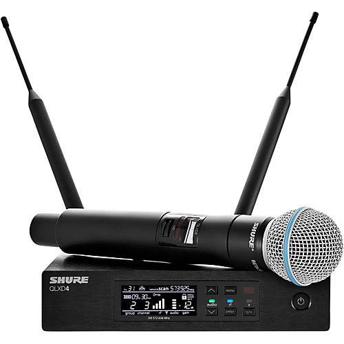 Shure QLX-D Digital Wireless System with Beta 58 Microphone thumbnail