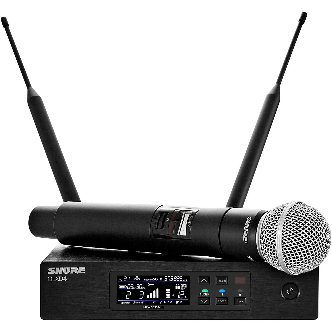 Shure QLX-D Digital Wireless System with SM58 Dynamic Microphone thumbnail