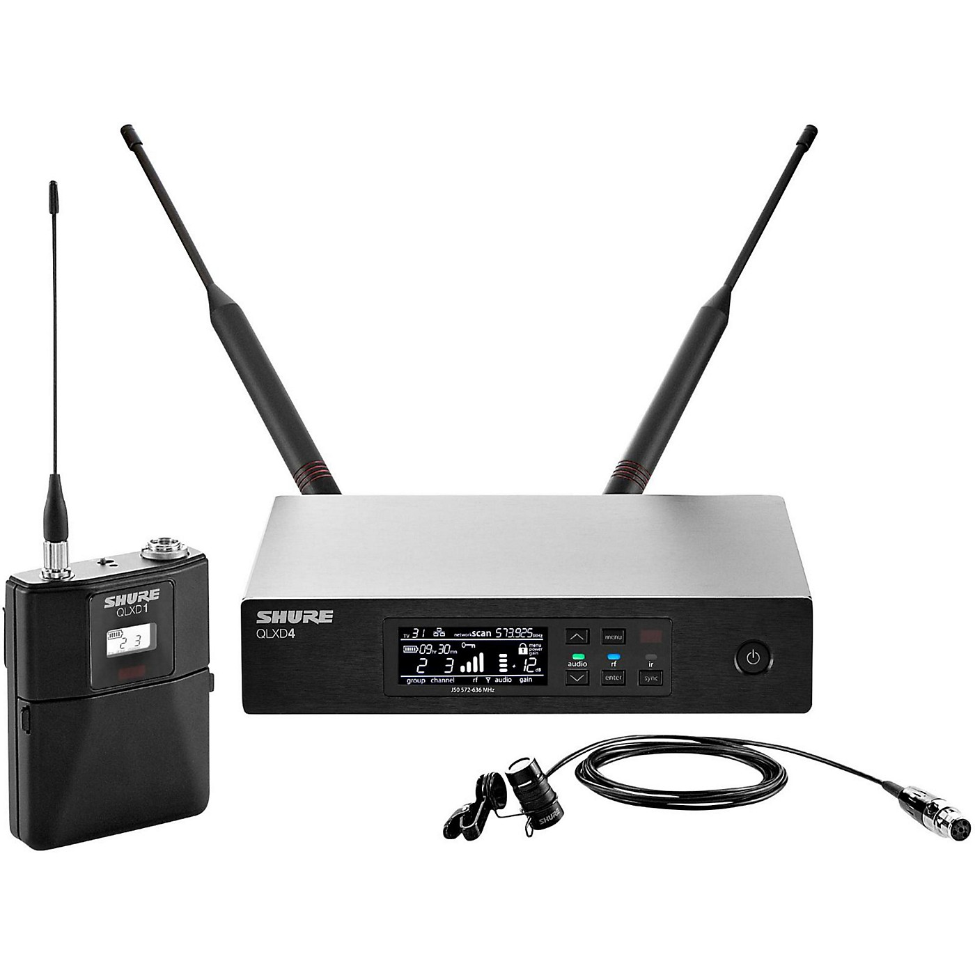 Shure QLX-D Digital Wireless System with WL184 Supercardioid Lavalier thumbnail