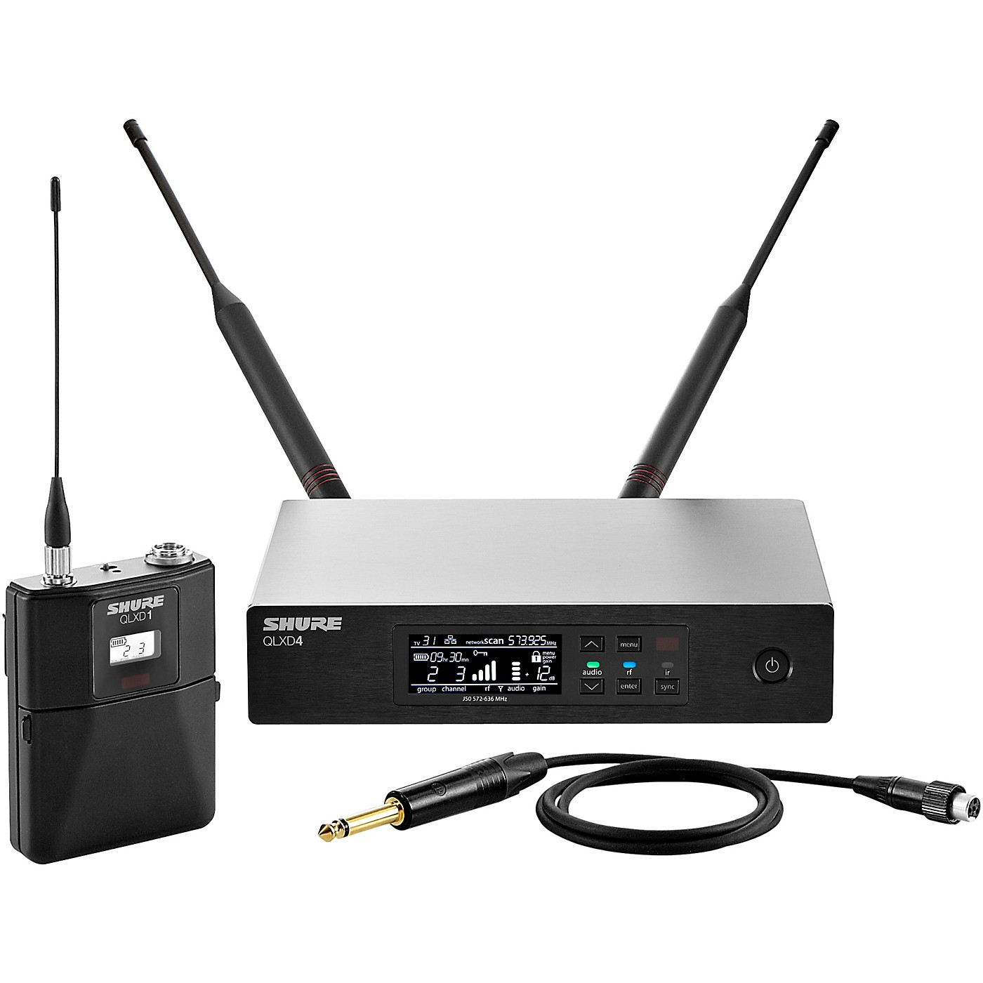 Shure QLX-D14 Wireless System with QLXD1 Bodypack and QLXD4 Receiver thumbnail