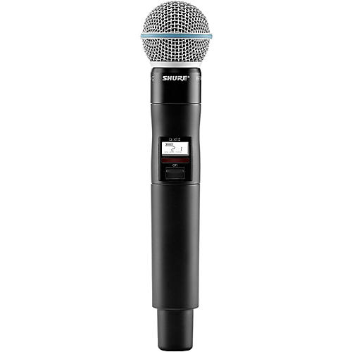 Shure QLXD2/B58=-H50 Wireless Handheld Transmitter with Beta 58A Microphone, Band H50 thumbnail