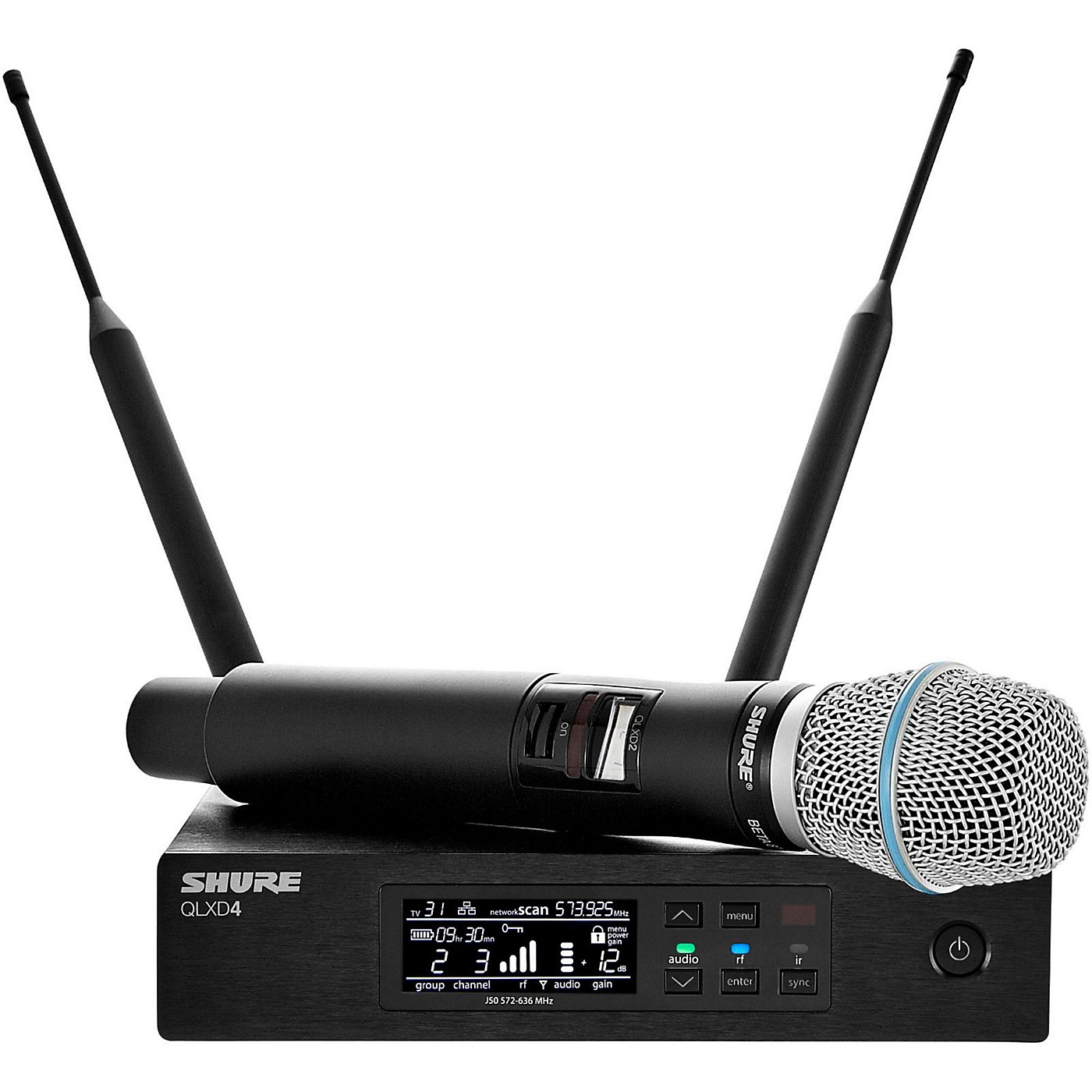 Shure QLXD24/B87A Digital Wireless Handheld Microphone System With QLXD4 Receiver thumbnail