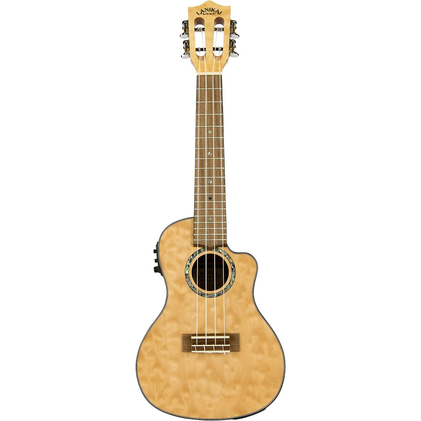 Lanikai QM-CEC Quitled Maple Concert Acoustic-Electric Ukulele thumbnail