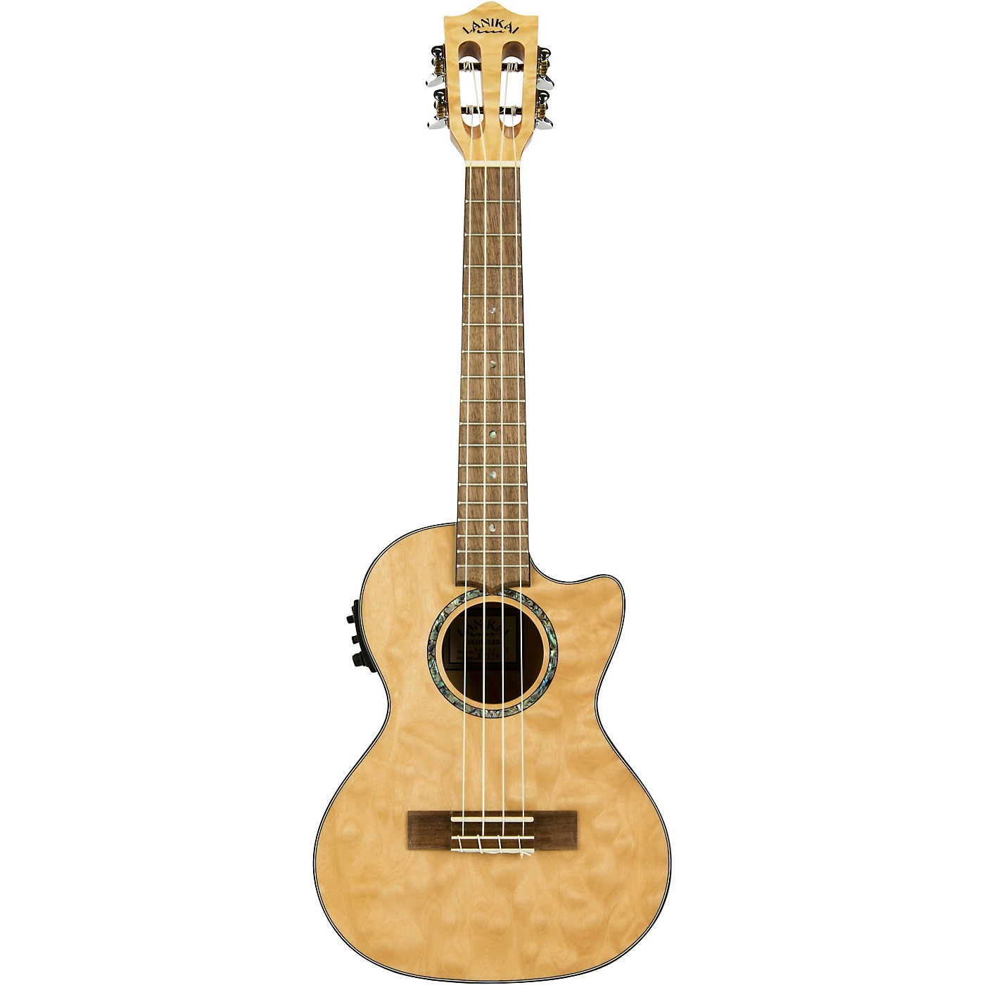 Lanikai QM-CET Quilted Maple Tenor with Kula PreampAcoustic Electric Ukulele thumbnail