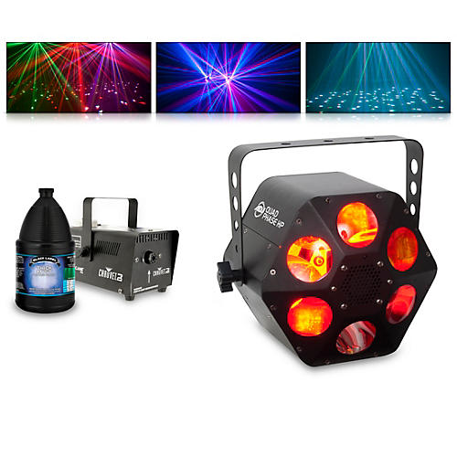 American DJ Quad Phase HP with Hurricane 700 Fog Machine and Juice thumbnail