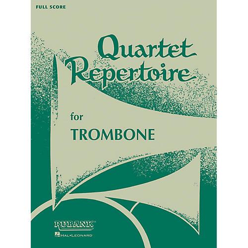 Rubank Publications Quartet Repertoire for Trombone (Baritone T.C. (Third Part)) Ensemble Collection Series thumbnail
