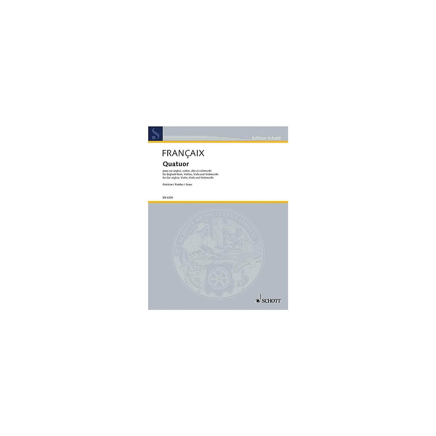 Schott Quartet (Study Score) Schott Series Composed by Jean Françaix thumbnail