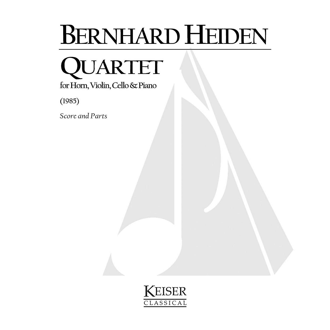 Lauren Keiser Music Publishing Quartet for Horn and Piano Trio LKM Music Series Composed by Bernhard Heiden thumbnail