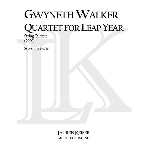 Lauren Keiser Music Publishing Quartet for Leap Year (String Quartet) LKM Music Series Composed by Gwyneth Walker thumbnail