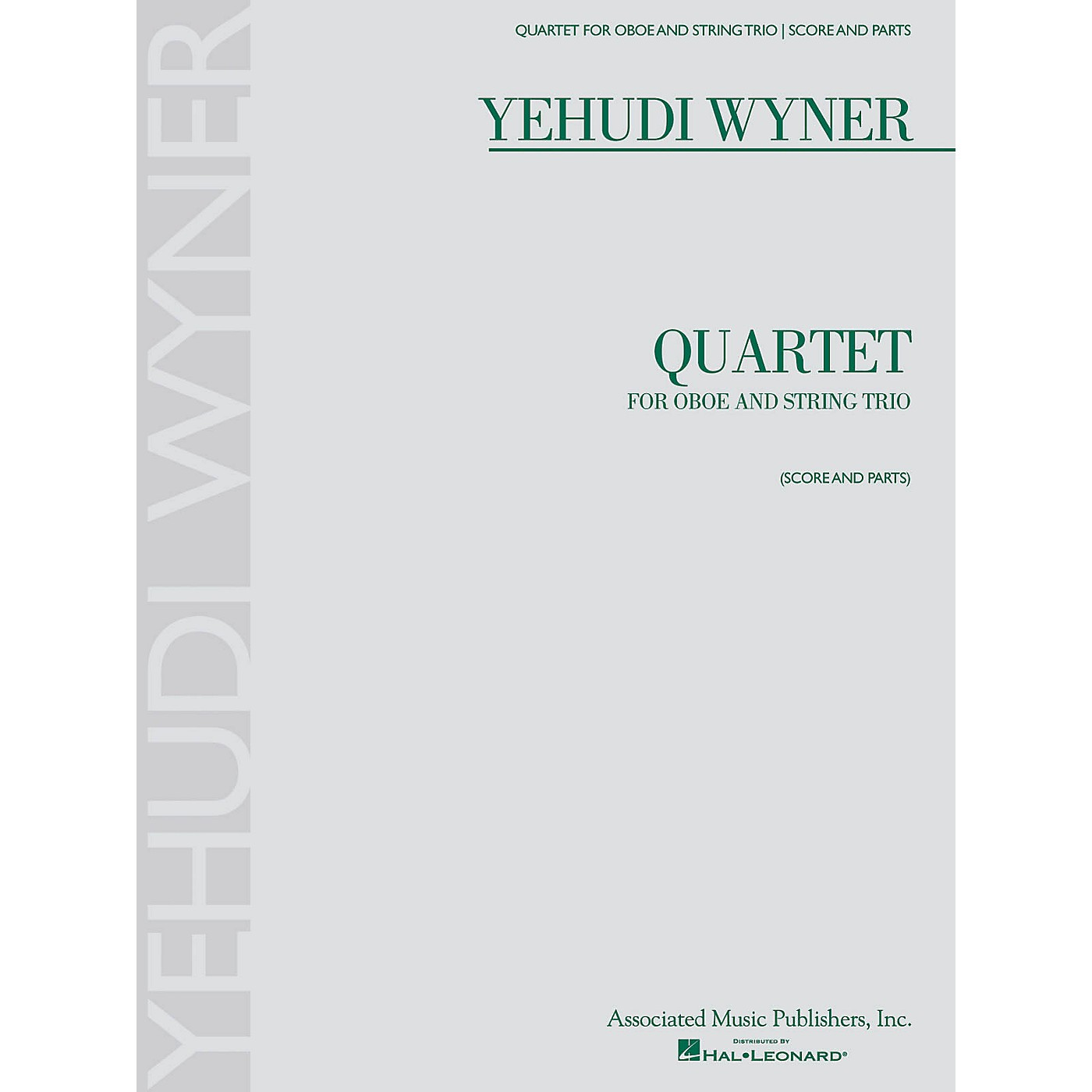 Associated Quartet (for Oboe and String Trio - Score and Parts) Ensemble Series by Yehudi Wyner thumbnail