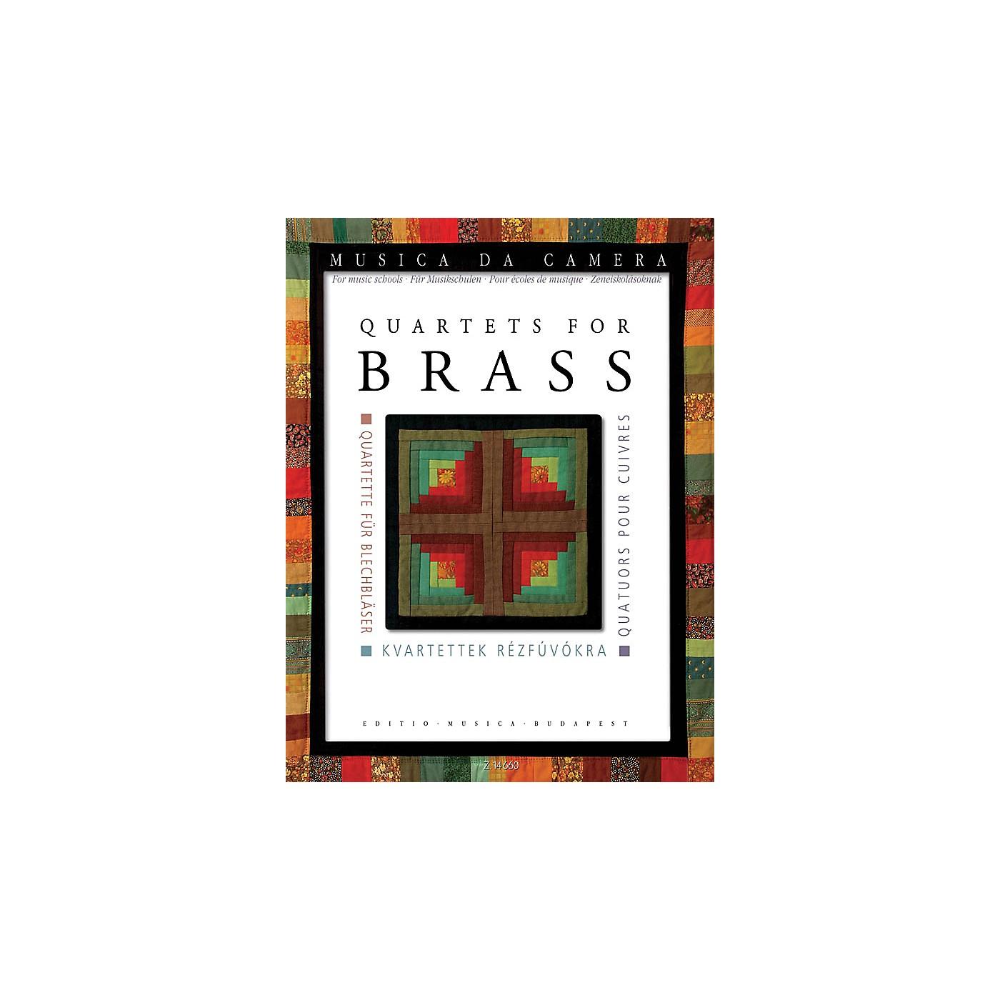 Editio Musica Budapest Quartets for Brass Musica da Camera EMB Series Book  by Various Edited by Péter Perényi thumbnail