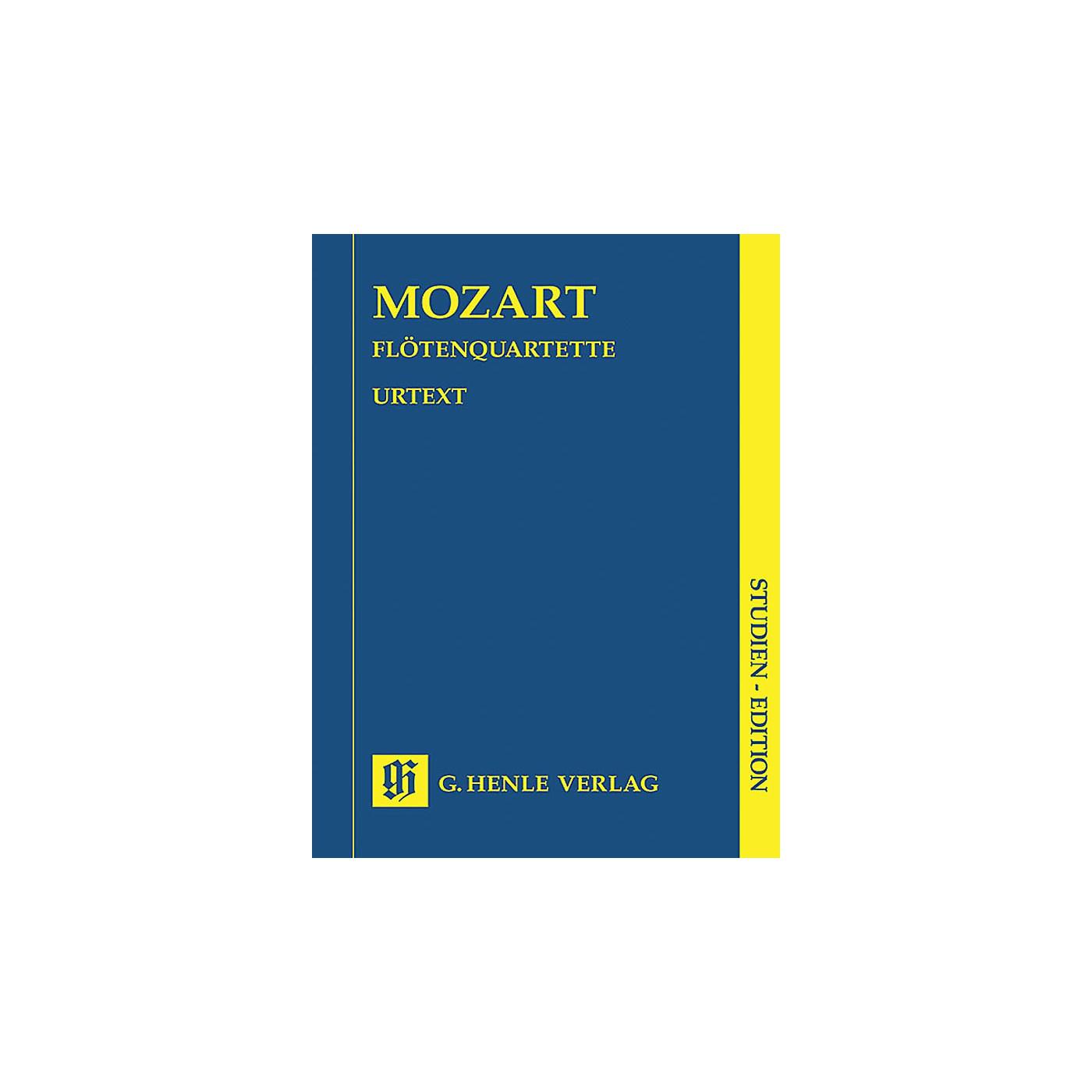 G. Henle Verlag Quartets for Flute, Violin, Viola, and Violoncello Henle Study Scores by Wolfgang Amadeus Mozart thumbnail