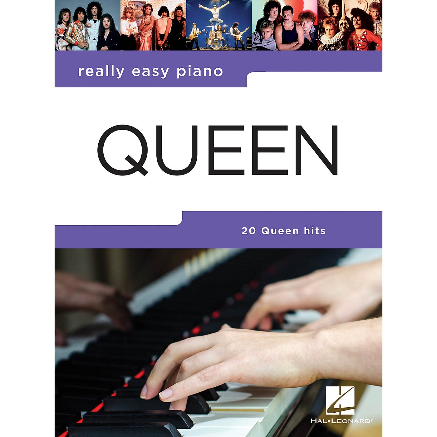 Hal Leonard Queen - Really Easy Piano Really Easy Piano Series Softcover Performed by Queen thumbnail