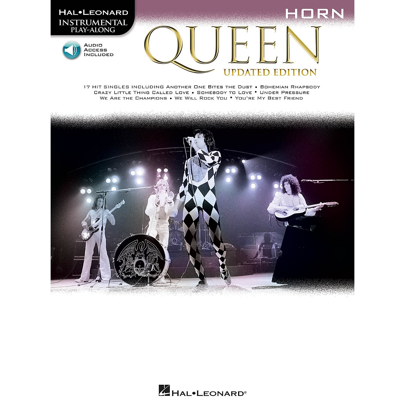 Hal Leonard Queen - Updated Edition Horn Instrumental Play-Along Songbook Book/Audio Online thumbnail