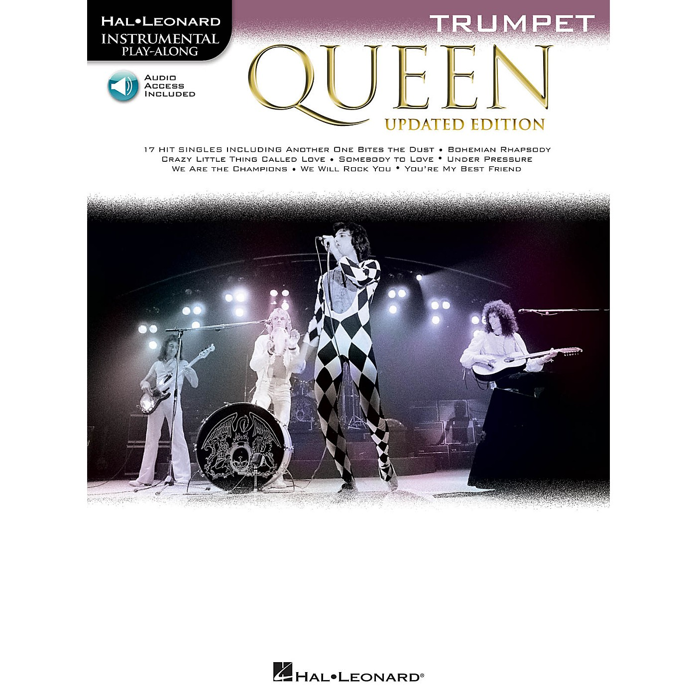 Hal Leonard Queen - Updated Edition Trumpet Instrumental Play-Along Songbook Book/Audio Online thumbnail