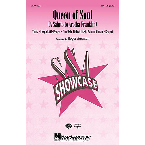 Hal Leonard Queen Of Soul (A Salute To Aretha Franklin) ShowTrax CD by Aretha Franklin arranged by Roger Emerson thumbnail