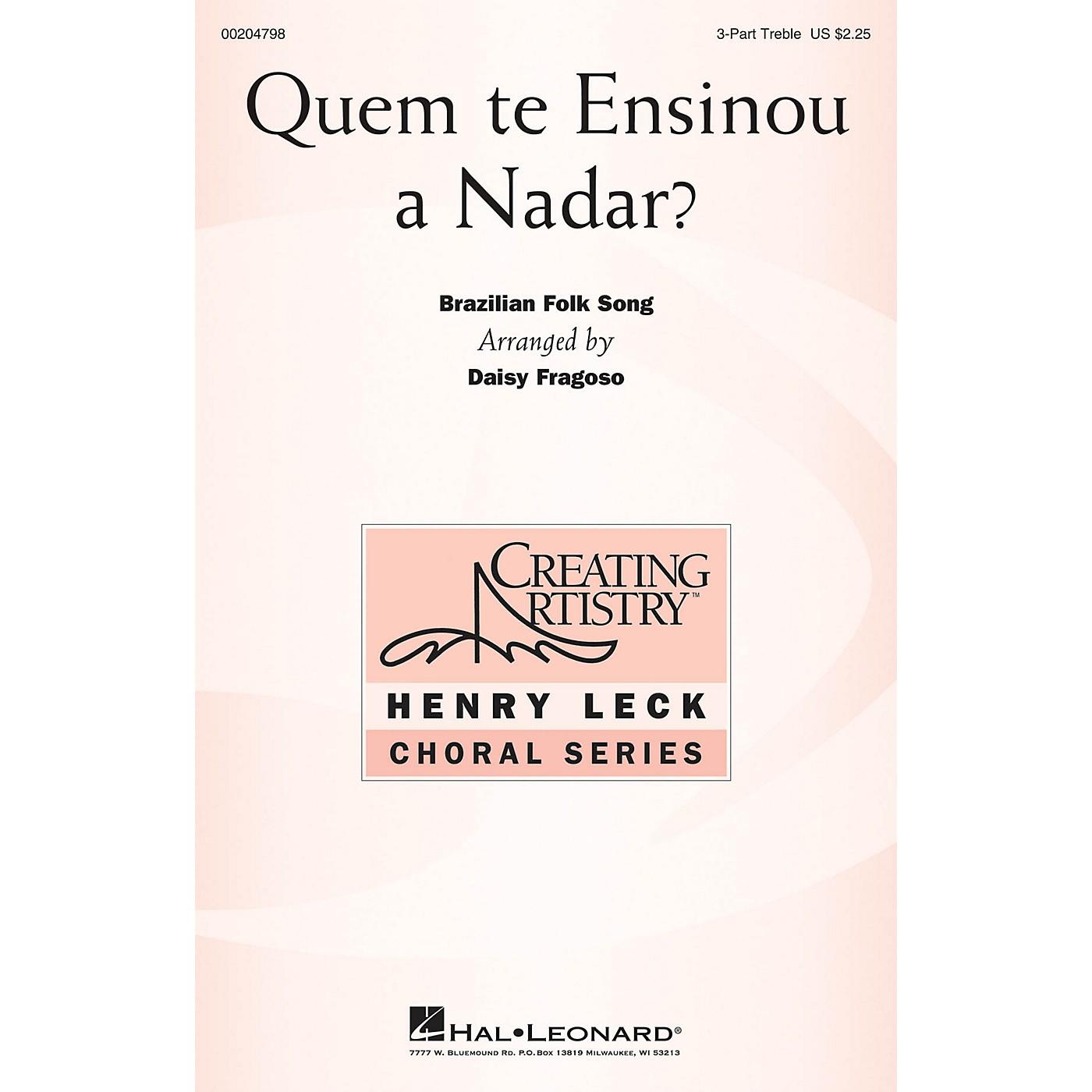 Hal Leonard Quem te Ensinou a Nadar? 3 Part Treble arranged by Daisy Fragoso thumbnail
