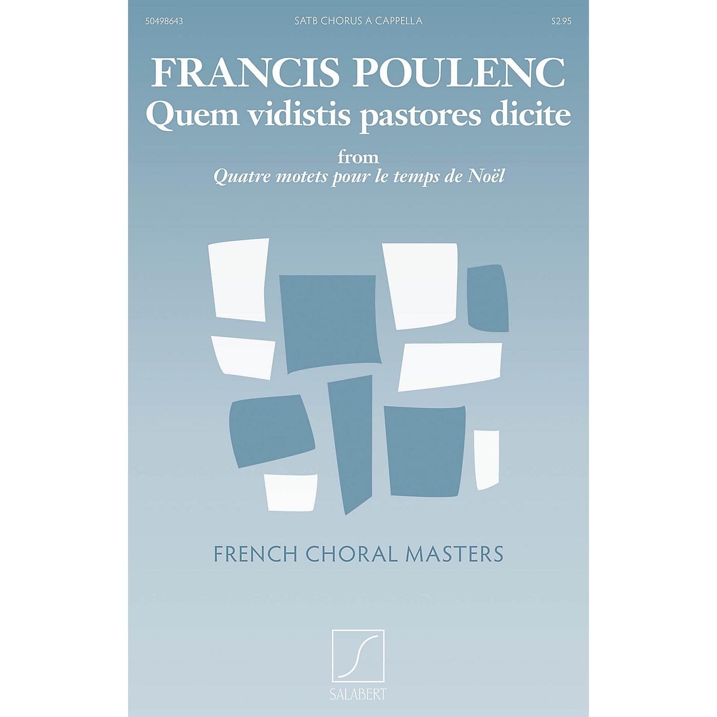Salabert Quem vidistis pastores dicite SATB a cappella Composed by Francis Poulenc thumbnail
