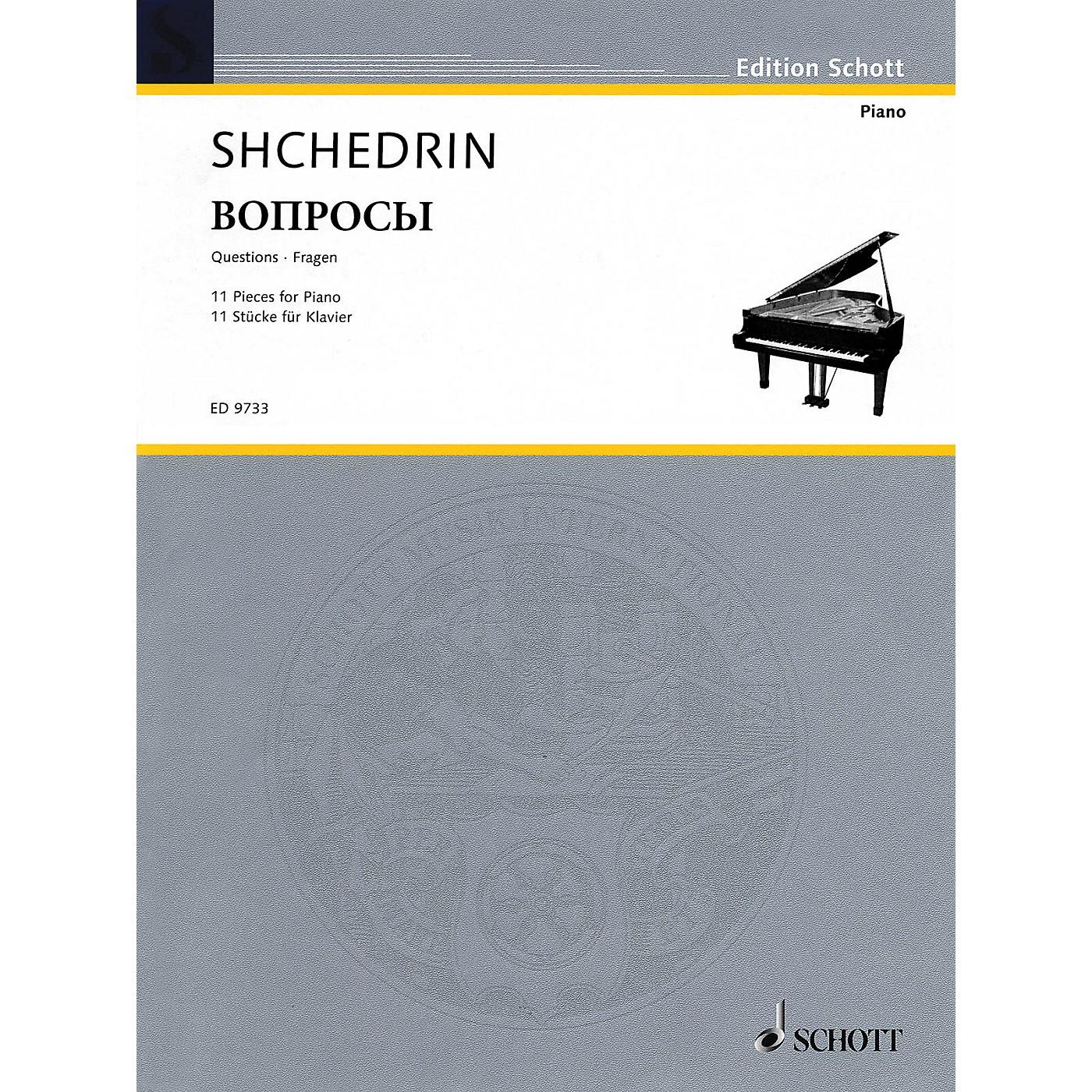 Schott Questions (11 Pieces for Piano (2003)) Schott Series thumbnail