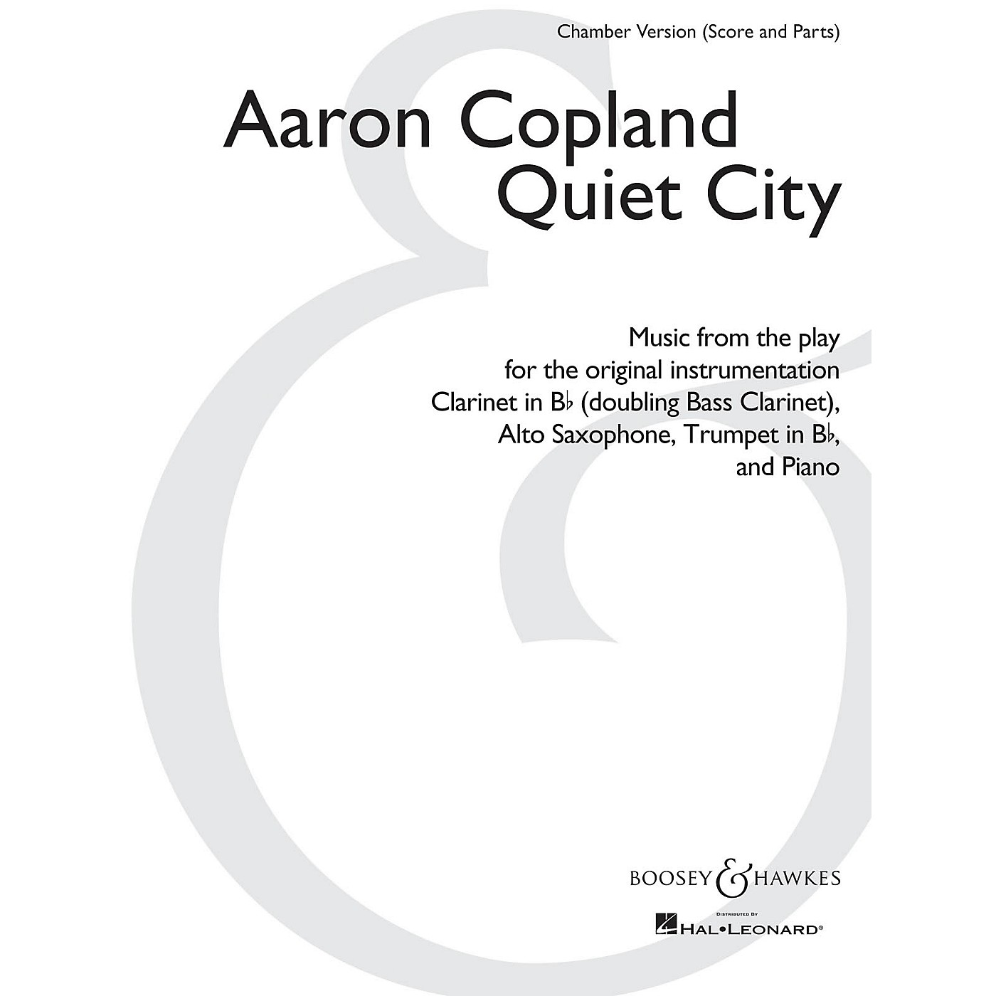 Boosey and Hawkes Quiet City Boosey & Hawkes Chamber Music by Aaron Copland Arranged by Christopher Brellochs thumbnail