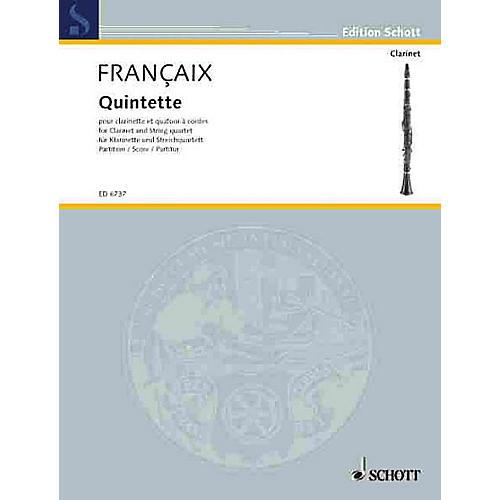 Schott Music Quintet (Score) Schott Series Composed by Jean Françaix thumbnail