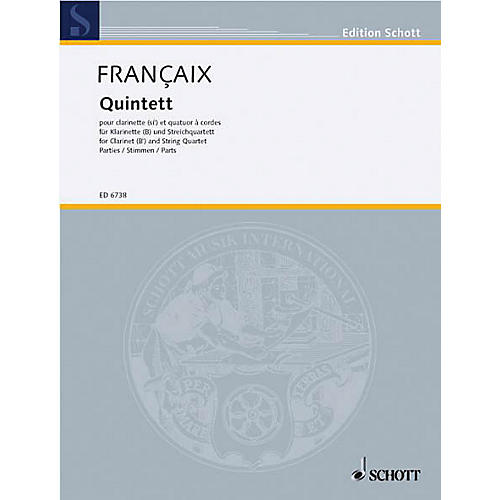 Schott Music Quintet (Set of Parts) Schott Series Composed by Jean Françaix thumbnail