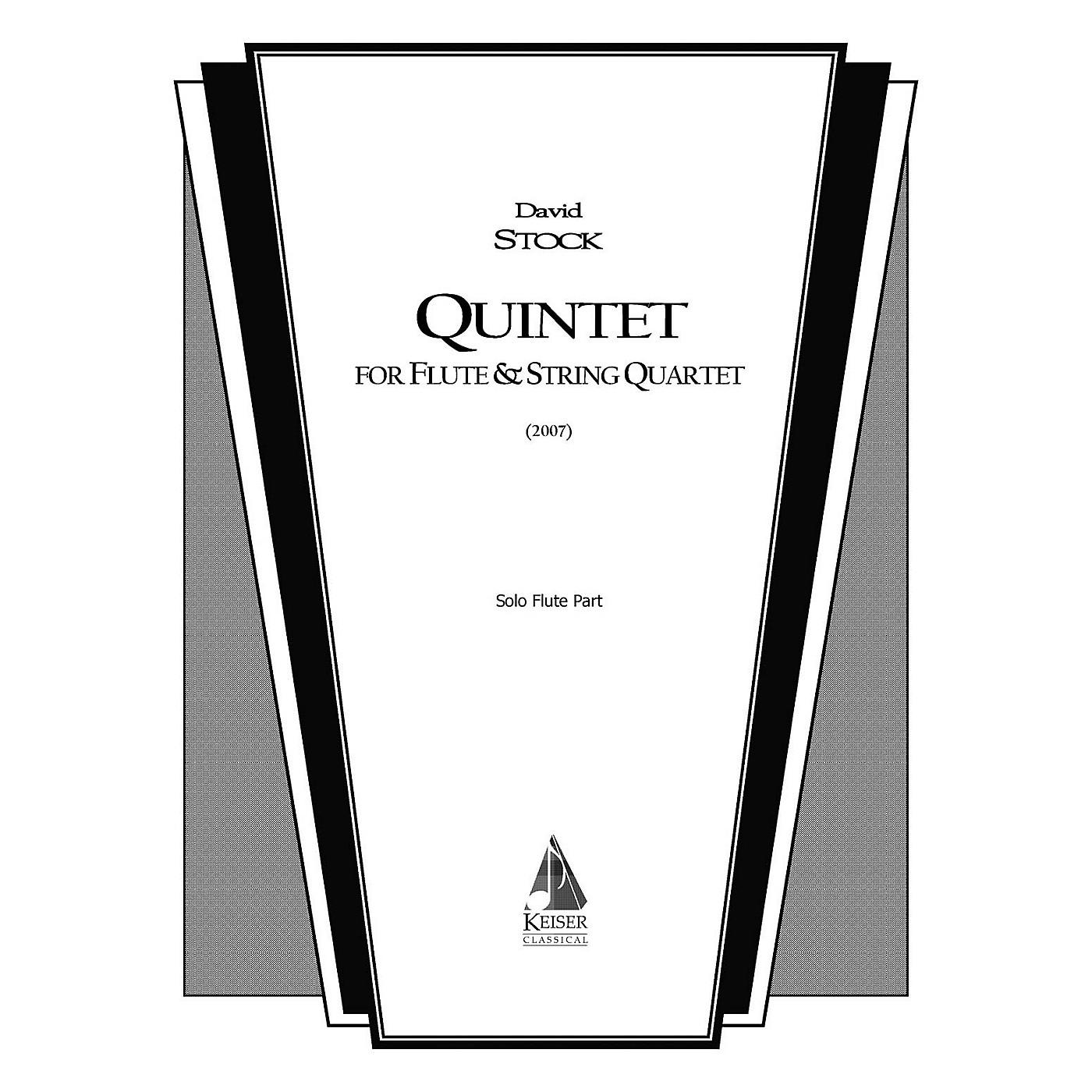 Lauren Keiser Music Publishing Quintet for Flute and String Quartet LKM Music Series Composed by David Stock thumbnail