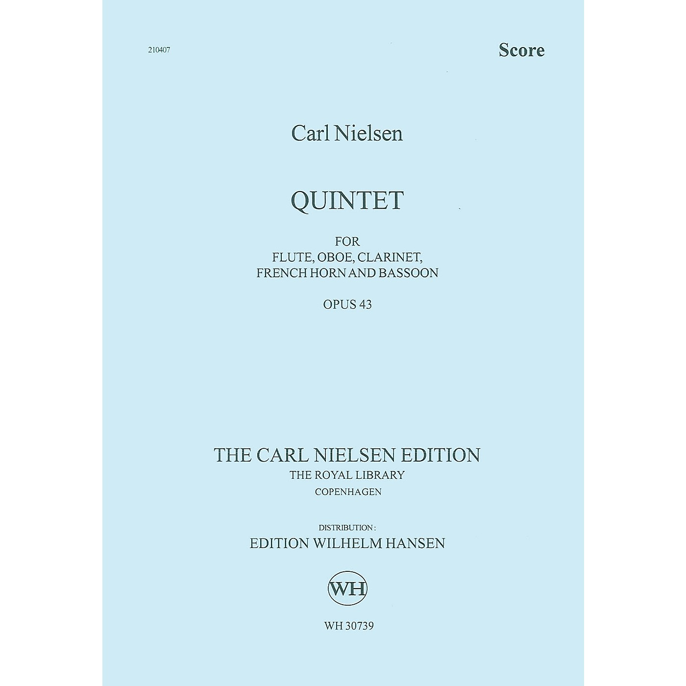 Wilhelm Hansen Quintet for Wind Op. 43 Music Sales America Series by Carl Nielsen thumbnail