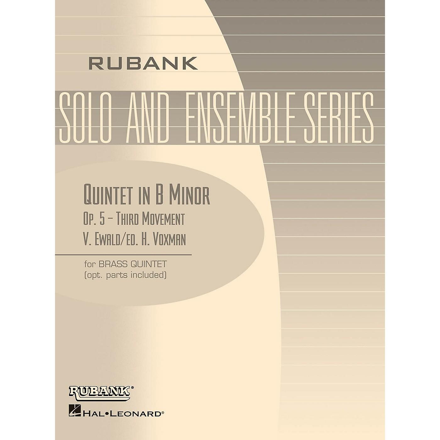 Rubank Publications Quintet in B Minor, Op. 5 - Third Movement (Brass Quintet - Grade 5) Rubank Solo/Ensemble Sheet Series thumbnail