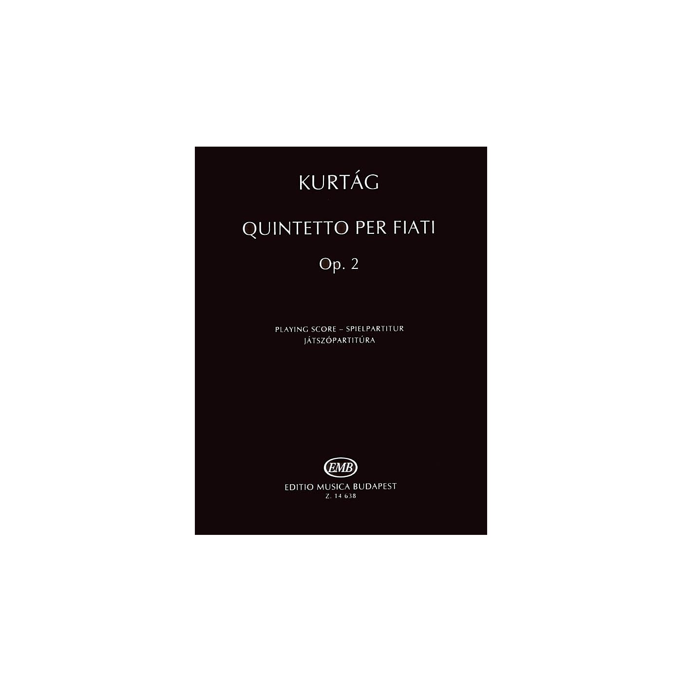 Editio Musica Budapest Quintetto per Fiati, Op. 2 (Revised Edition Woodwind Quintet Playing Score) EMB Series by György Kurtág thumbnail