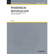 Schott Quintetto per archi String Ensemble Series Composed by Krzysztof Penderecki