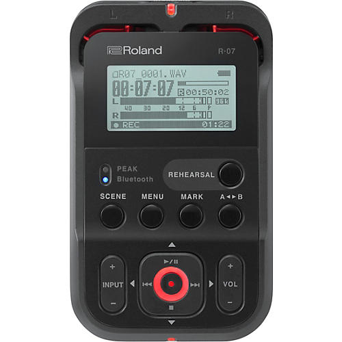 Roland R-07 High-Resolution Audio Recorder in Black thumbnail