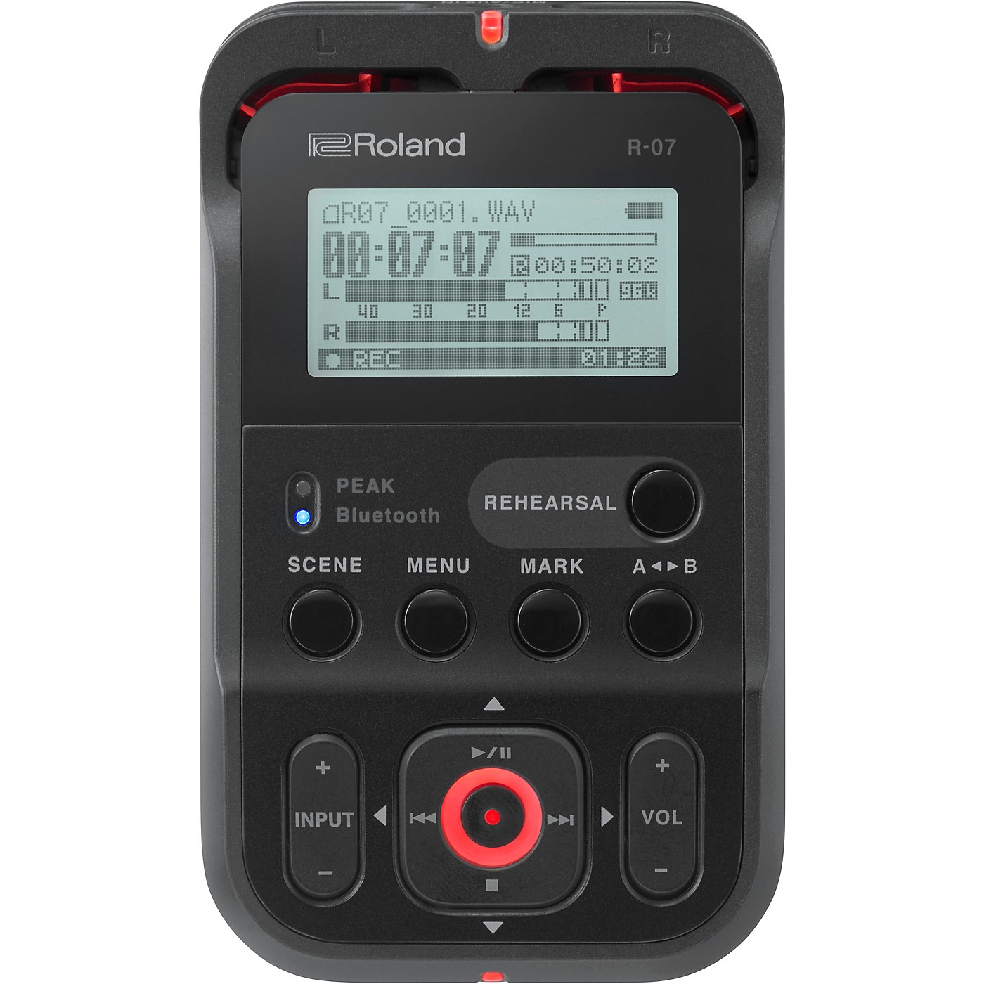 Roland R-07 High-Resolution Audio Recorder with Bluetooth  in Black thumbnail
