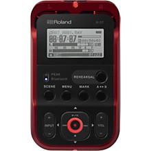 Roland R-07 High-Resolution Audio Recorder with Bluetooth in Red