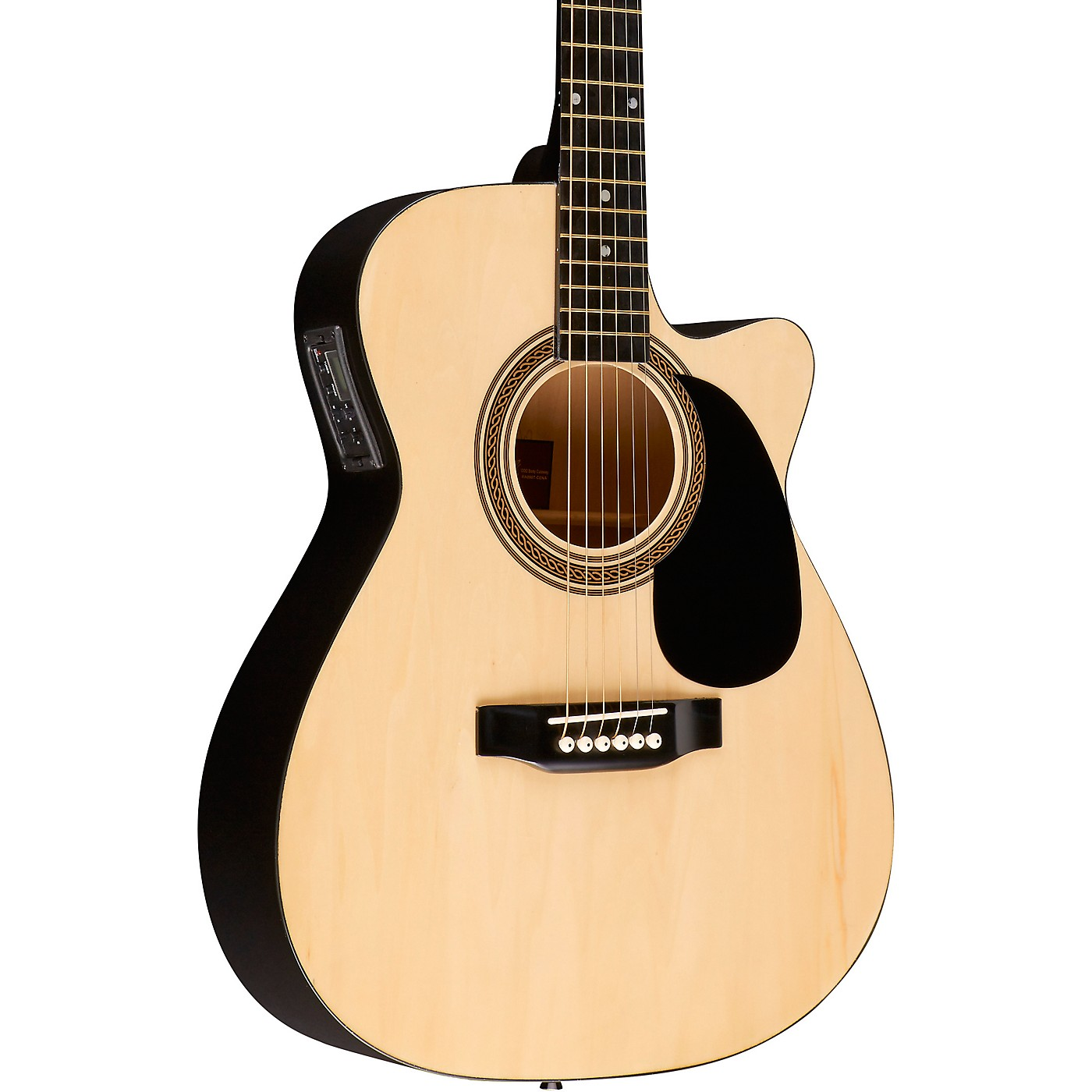 Rogue RA-090 Concert Cutaway Acoustic-Electric Guitar thumbnail