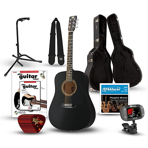Rogue RA-090 Dreadnought Acoustic Guitar Deluxe Bundle thumbnail
