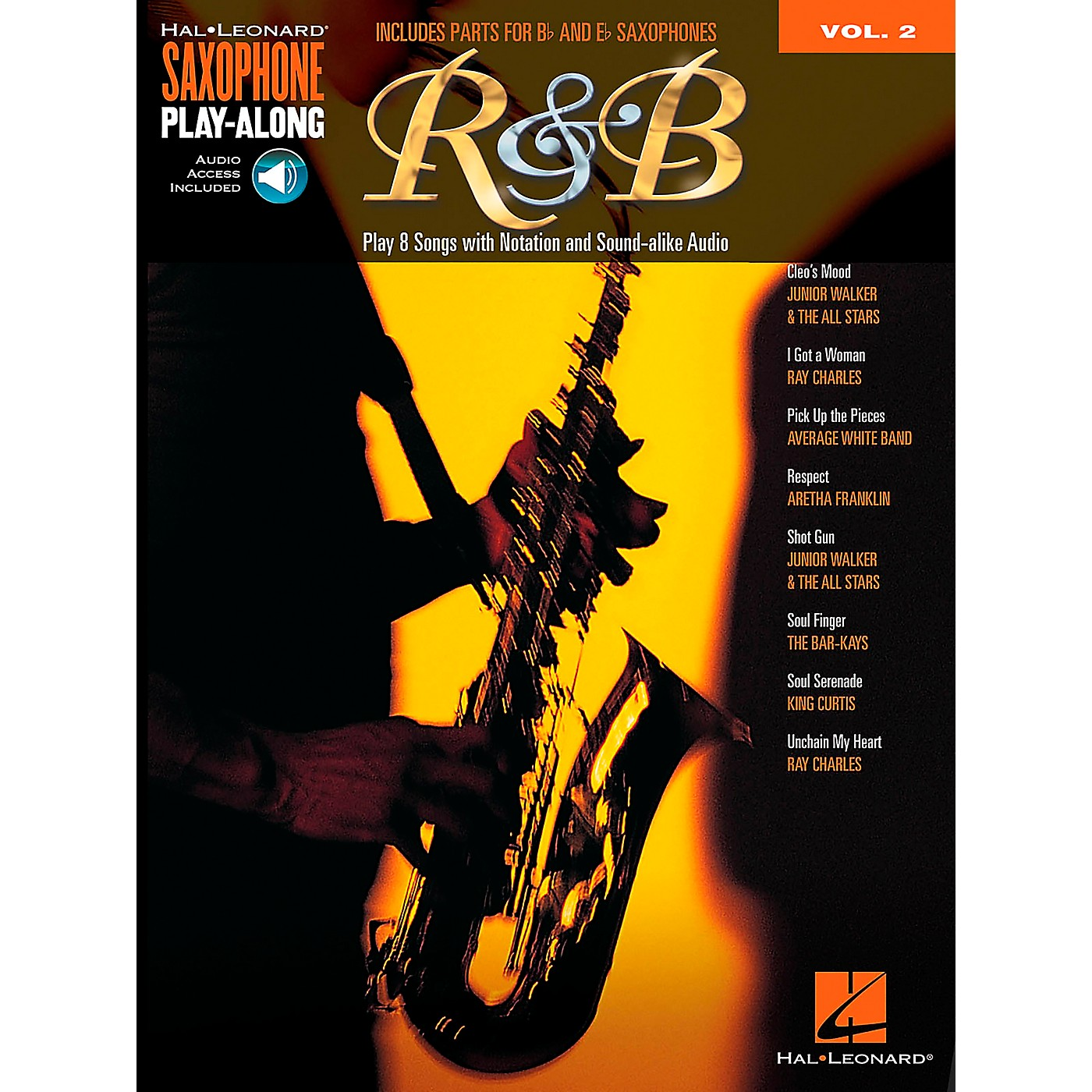 Hal Leonard R&B - Saxophone Play-Along Vol. 2 Book/Online Audio thumbnail